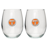 Tennessee Volunteers Stemless Wine Glass (Set of 2)