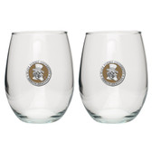 Wake Forest Demon Deacons Stemless Wine Glass (Set of 2)