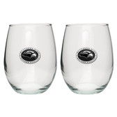 Southern Miss Golden Eagles Stemless Wine Glass (Set of 2)