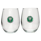 Marshall Thundering Herd Stemless Wine Glass (Set of 2)
