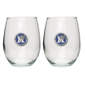Memphis Tigers Stemless Wine Glass (Set of 2)