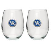 Kentucky Wildcats Stemless Wine Glass (Set of 2) #2