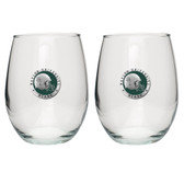 Baylor Bears Helmet Logo Stemless Wine Glass (Set of 2)