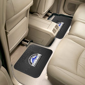 "Colorado Rockies Backseat Utility Mats 2 Pack 14""x17"""