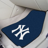 "New York Yankees 2-piece Carpeted Car Mats 17""x27"""