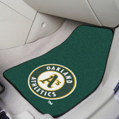 "Oakland Athletics 2-piece Carpeted Car Mats 17""x27"""
