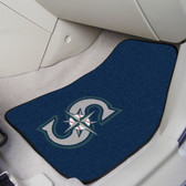 "Seattle Mariners 2-piece Carpeted Car Mats 17""x27"""