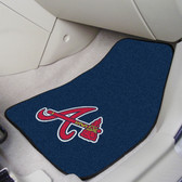 "Atlanta Braves 2-piece Carpeted Car Mats 17""x27"""