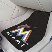 "Miami Marlins 2-piece Carpeted Car Mats 17""x27"""