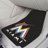 "Miami Marlins 2-piece Carpeted Car Mats 17""x27"""