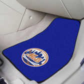 "New York Mets 2-piece Carpeted Car Mats 17""x27"""