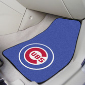 "Chicago Cubs 2-piece Carpeted Car Mats 17""x27"""