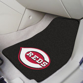 "Cincinnati Reds 2-piece Carpeted Car Mats 17""x27"""