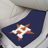 "Houston Astros 2-piece Carpeted Car Mats 17""x27"""