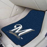 "Milwaukee Brewers 2-piece Carpeted Car Mats 17""x27"""
