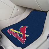 "St. Louis Cardinals 2-piece Carpeted Car Mats 17""x27"""