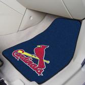 "St. Louis Cardinals 2-piece Carpeted Car Mats 17""x27"""