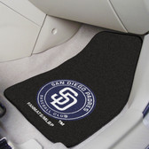 "San Diego Padres 2-piece Carpeted Car Mats 17""x27"""