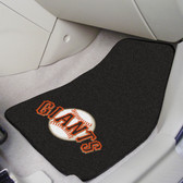 "San Francisco Giants 2-piece Carpeted Car Mats 17""x27"""