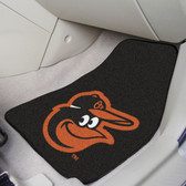 "Baltimore Orioles Cartoon Bird 2-piece Carpeted Car Mats 17""x27"""