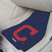 "Cleveland Indians ""Block-C"" 2-piece Carpeted Car Mats 17""x27"""