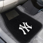"New York Yankees 2-piece Embroidered Car Mats 18""x27"""