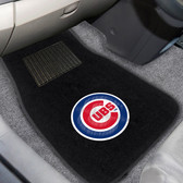 "Chicago Cubs 2-piece Embroidered Car Mats 18""x27"""