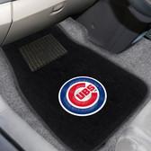 "Chicago Cubs 2-piece Embroidered Car Mats 18""x27"""