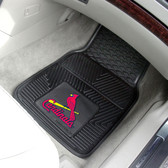 "St. Louis Cardinals Heavy Duty 2-Piece Vinyl Car Mats 17""x27"""