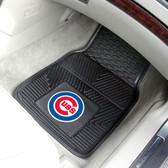 "Chicago Cubs Heavy Duty 2-Piece Vinyl Car Mats 17""x27"""
