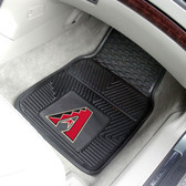 "Arizona Diamondbacks Heavy Duty 2-Piece Vinyl Car Mats 17""x27"""