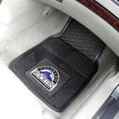 "Colorado Rockies Heavy Duty 2-Piece Vinyl Car Mats 17""x27"""