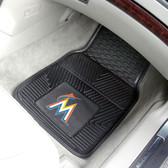 "Miami Marlins Heavy Duty 2-Piece Vinyl Car Mats 17""x27"""