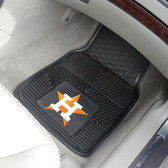 "Houston Astros Heavy Duty 2-Piece Vinyl Car Mats 17""x27"""