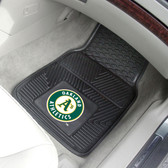 """Oakland Athletics Heavy Duty 2-Piece Vinyl Car Mats 17""""x27"""""""
