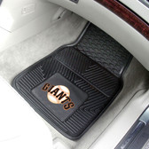 "San Francisco Giants Heavy Duty 2-Piece Vinyl Car Mats 17""x27"""