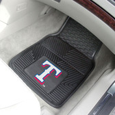 "Texas Rangers Heavy Duty 2-Piece Vinyl Car Mats 17""x27"""