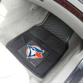 "Toronto Blue Jays Heavy Duty 2-Piece Vinyl Car Mats 17""x27"""