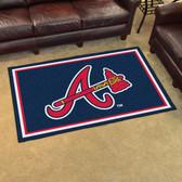 Atlanta Braves Rug 4'x6'