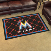 Miami Marlins Rug 4'x6'