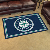 Seattle Mariners Rug 4'x6'