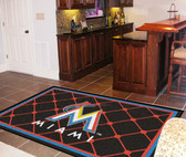 Miami Marlins Rug 5'x8'
