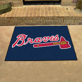 "Atlanta Braves All-Star Mat 33.75""x42.5"""