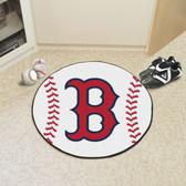 "Boston Red Sox Baseball Mat 27"" diameter"