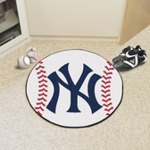 "New York Yankees Baseball Mat 27"" diameter"