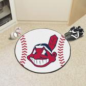 """Cleveland Indians Baseball Mat 27"""" diameter"""