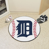 "Detroit Tigers Baseball Mat 27"" diameter"