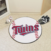 "Minnesota Twins Baseball Mat 27"" diameter"