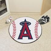"Los Angeles Angels Baseball Mat 27"" diameter"