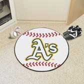 "Oakland Athletics Baseball Mat 27"" diameter"